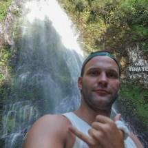 Thac Thin Yeu waterfall selfie