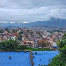 Kathmandu-monkey roof ccity view