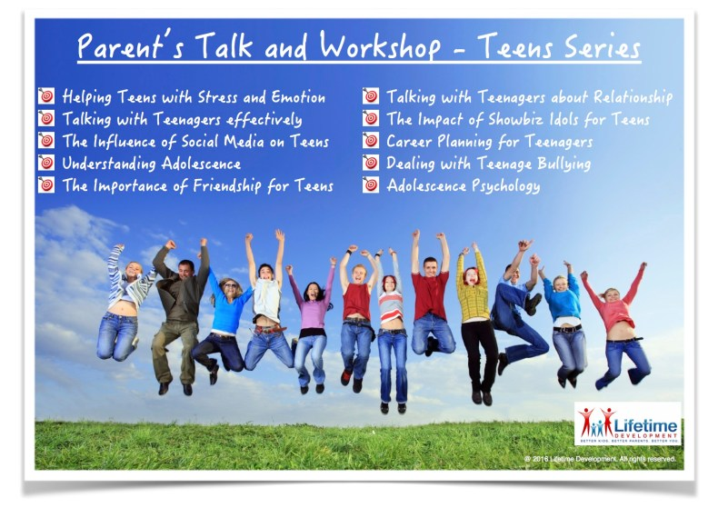 201607 Parent Talk and Workshop Teens Series English
