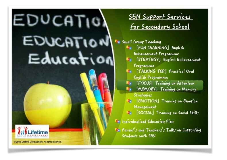 201607 Student Course SEN Secondary School Support English