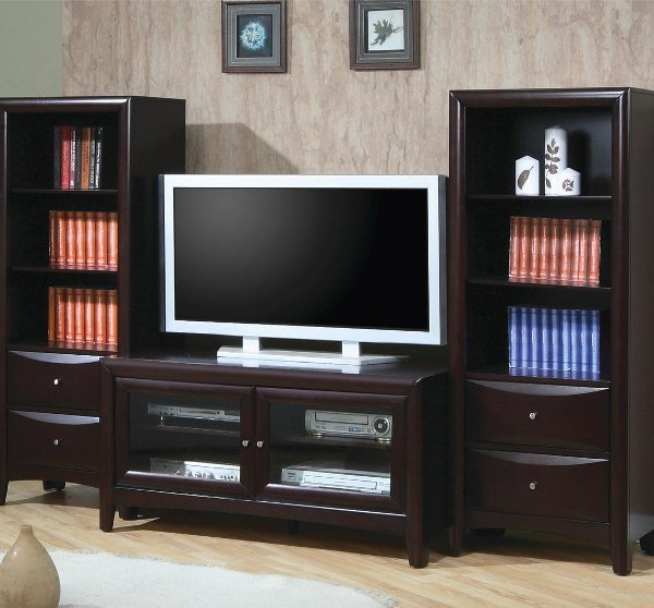 Madison – Coaster TV Stand and Media Tower Wall Unit by