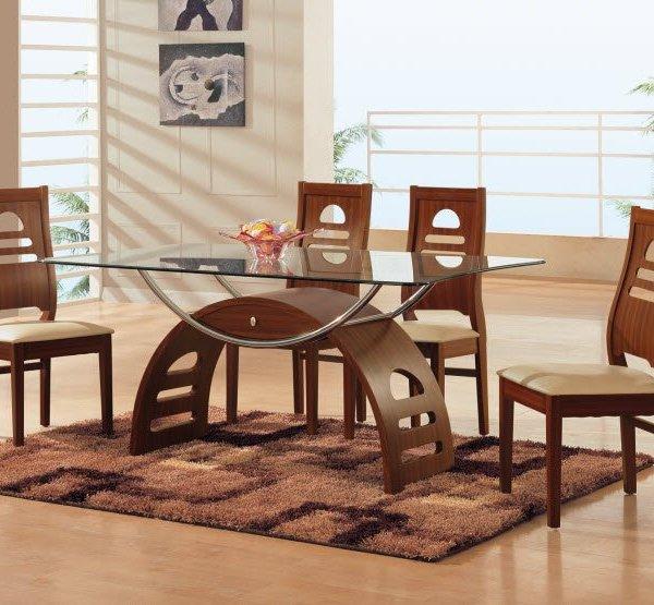 Mahogany Finished 5pc Dining Set – Lisys Discount Furniture