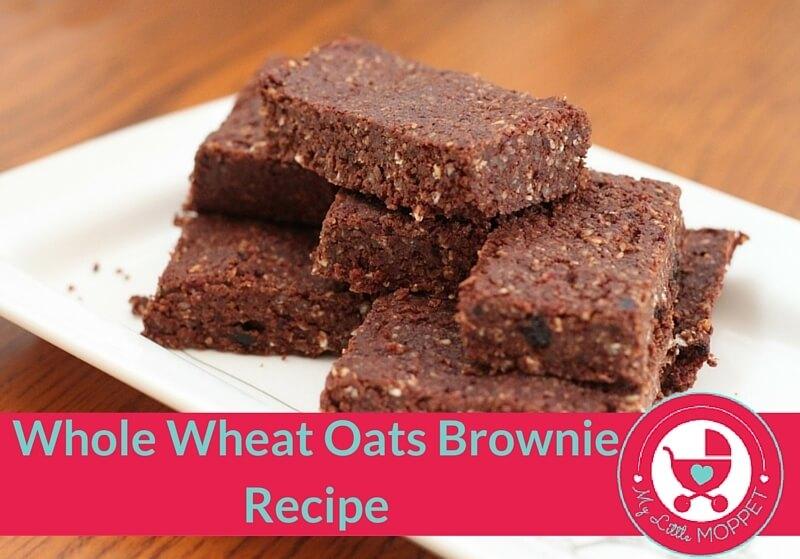 Whole Wheat Oats Brownie Recipe - My Little Moppet