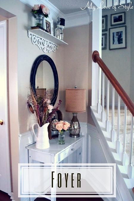 Budget Shabby Chic Foyer Makeover