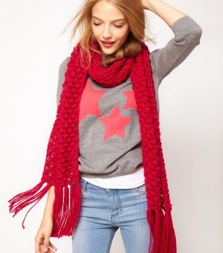 """Textured Knit Scarf"""