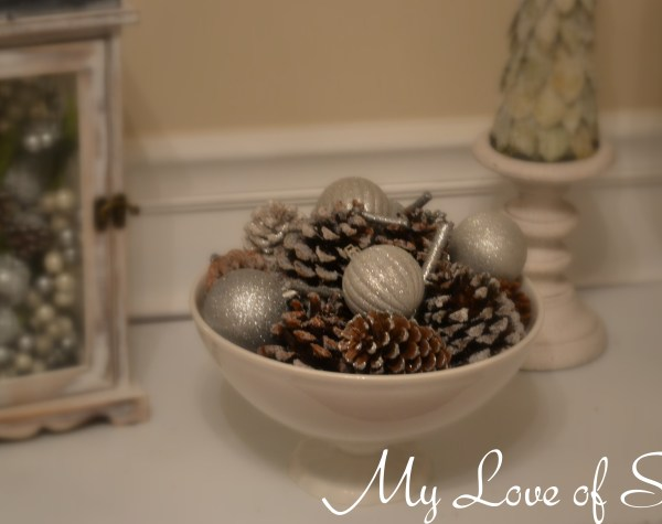 """Winter Pine Cone Display"""
