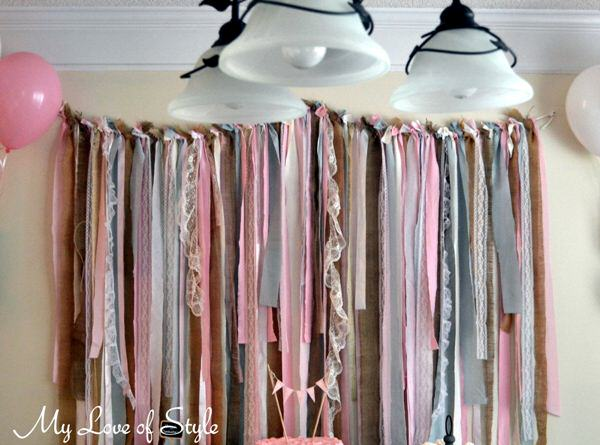 fabric garland backdrop