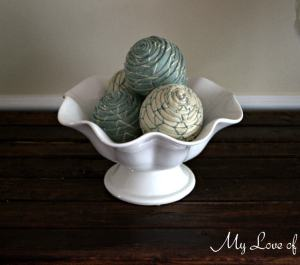 DIY Fabric Wrapped Balls