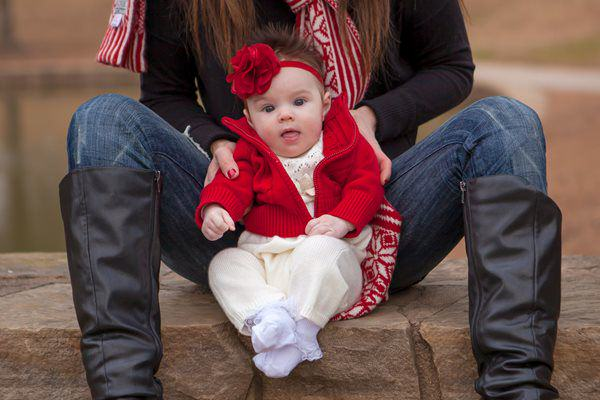 Baby Riley Christmas Photo 2013