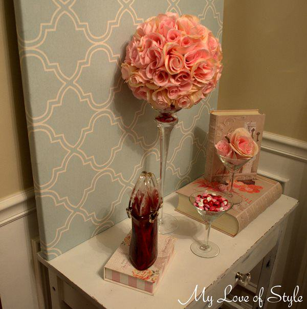 Diy rose pomander kissing ball centerpiece my love of