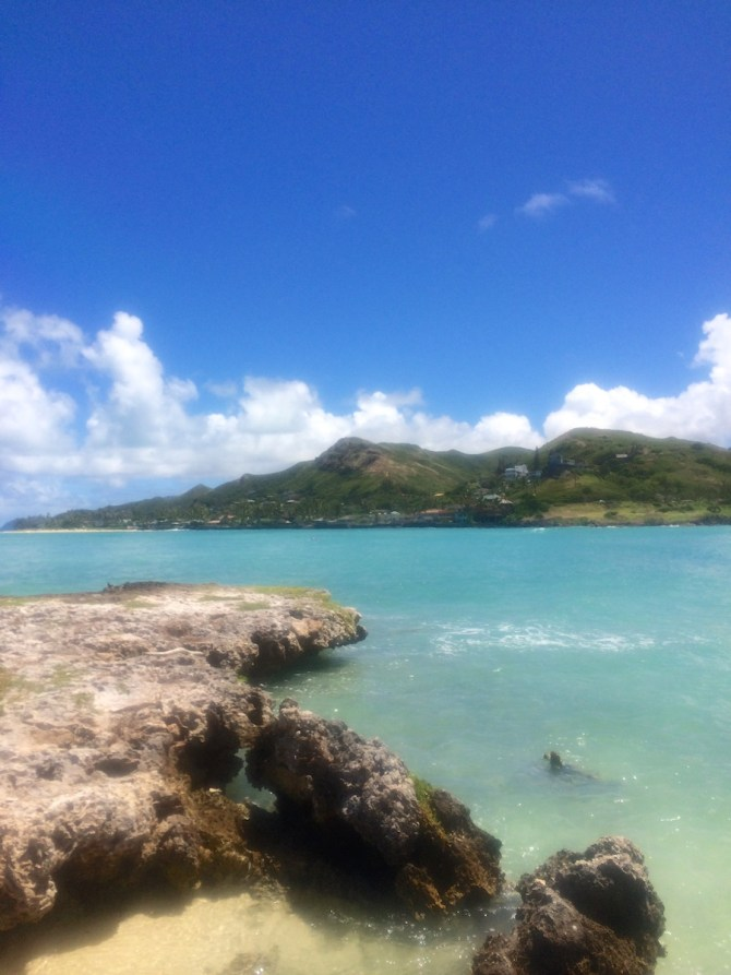 One of two islands we visited