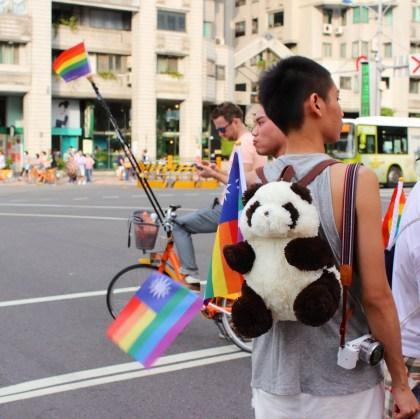 Panda and Taiwanese flag turned into Taiwanese Pride flag