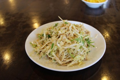 Side dish: shredded cabbage in soy sauce
