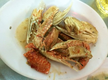 Salt and pepper crab claws