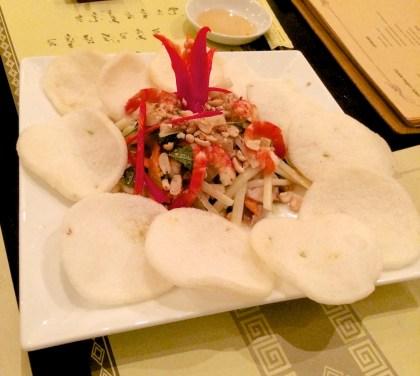 Lotus root salad