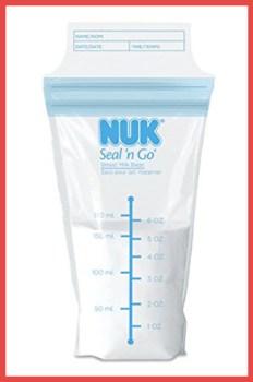 Nuk Seal N Go breast milk bag