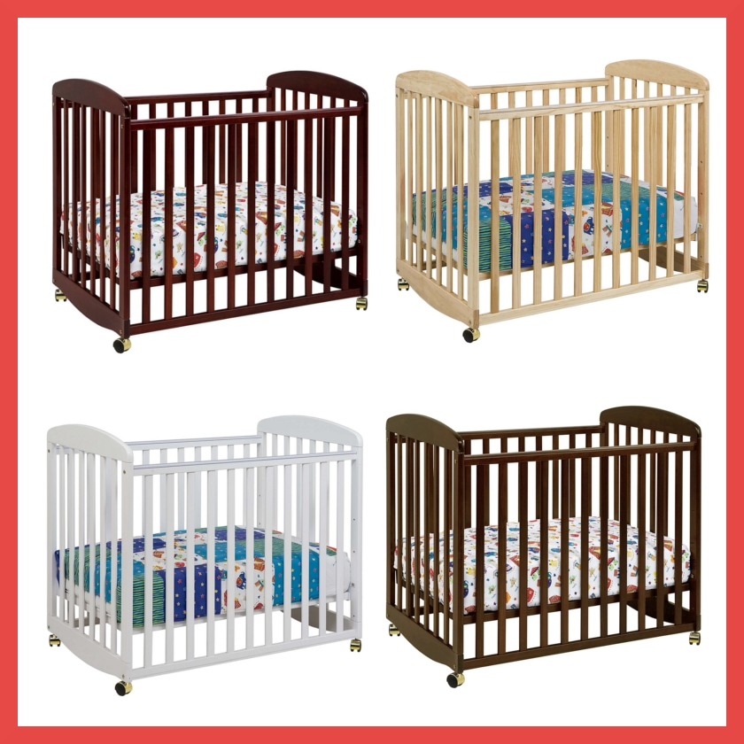 there are four mattress positions available to maximize the length of time your baby can sleep in this mini crib the crib has a great compact size that