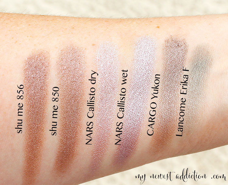 nars swatch arm comparisons