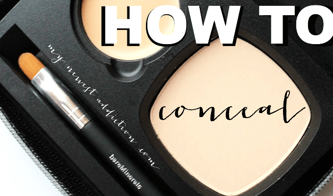 How To Conceal using the Bare Minerals Flawless Complexion Conceal & Finish Compact