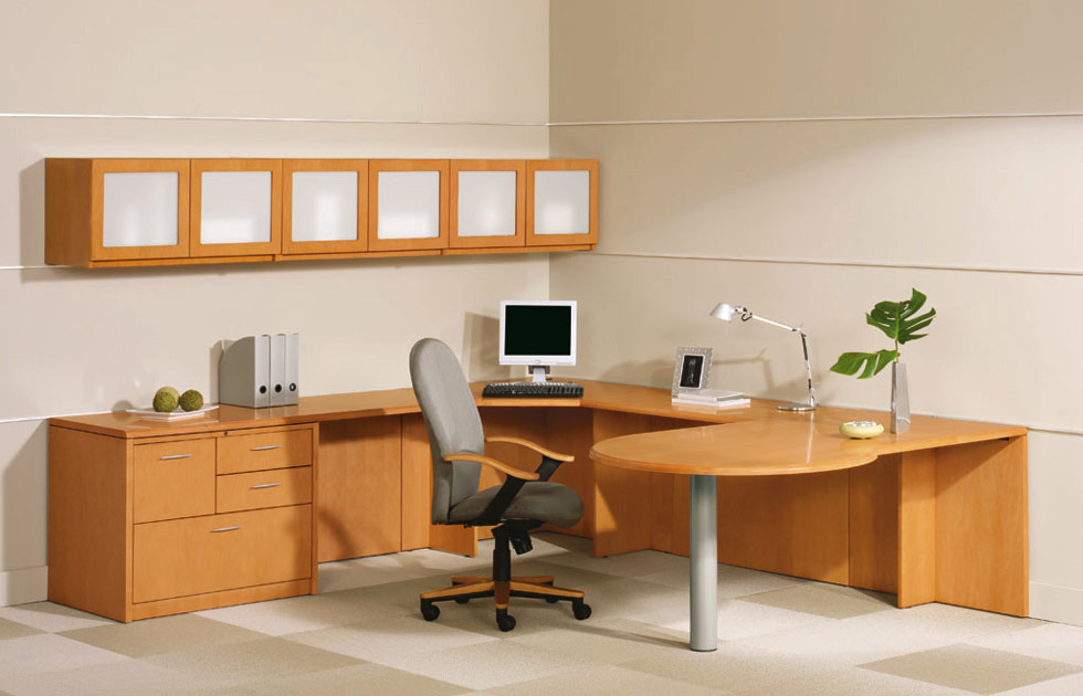 encompass series office desk suite with storage indiana furniture desks one