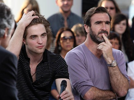 Photo of Eric Cantona & his friend  Robert Pattinson