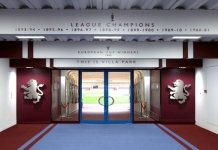 aston villa tunnel