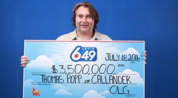 Lotto 649_July 13, 2016_$3,500,000.00_Thomas Popp of Callander