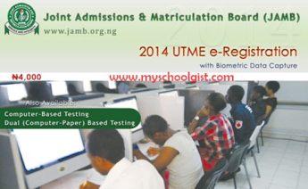 2014 JAMB UTME Registration