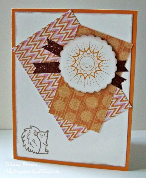 Squirrel & Sun Card by Wendy Kessler