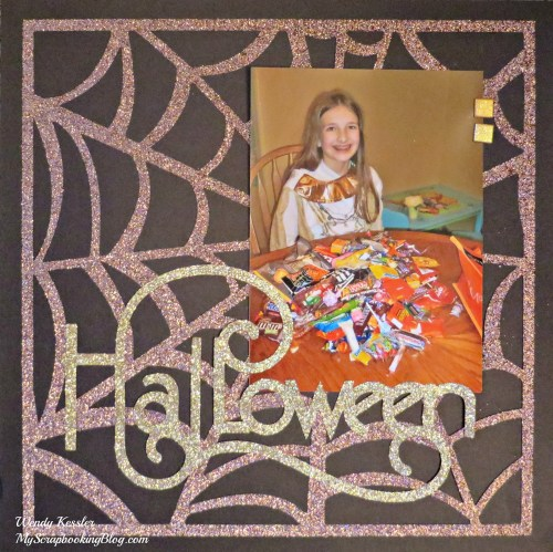 Halloween Layout by Wendy Kessler