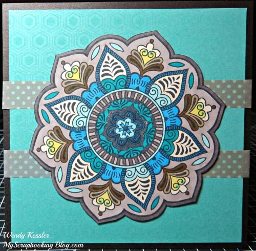 Colored Flower Card by Wendy Kessler