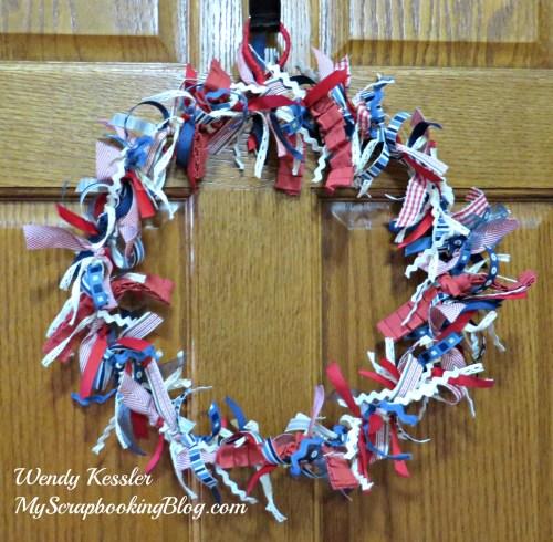 Ribbon Wreath by Wendy Kessler
