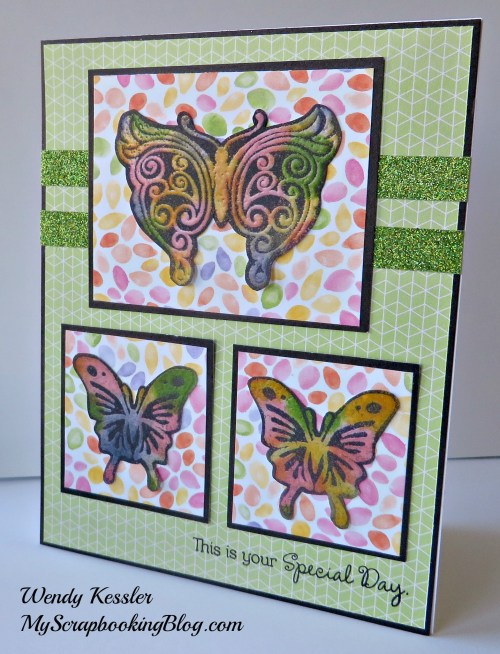 Butterfly Card (Resist Technique) by Wendy Kessler