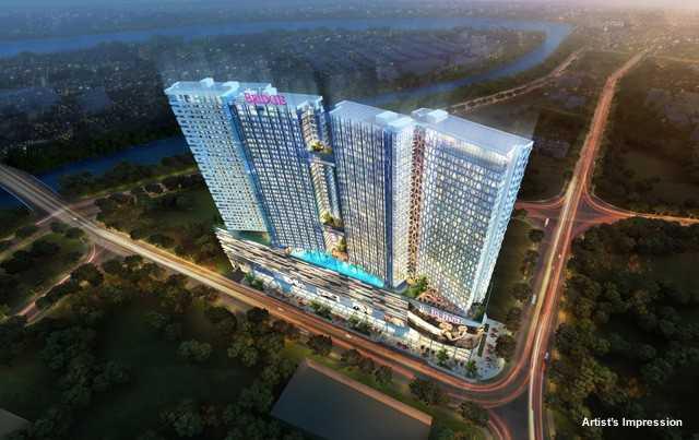 The-Bridge-Cambodia-Oxley-building-facade-night