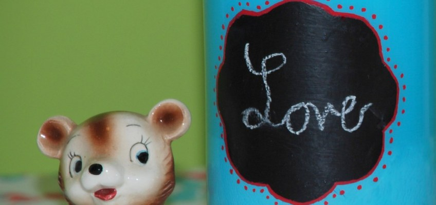 "14 Days of Love- ""Love"" Chalkboard Vase"