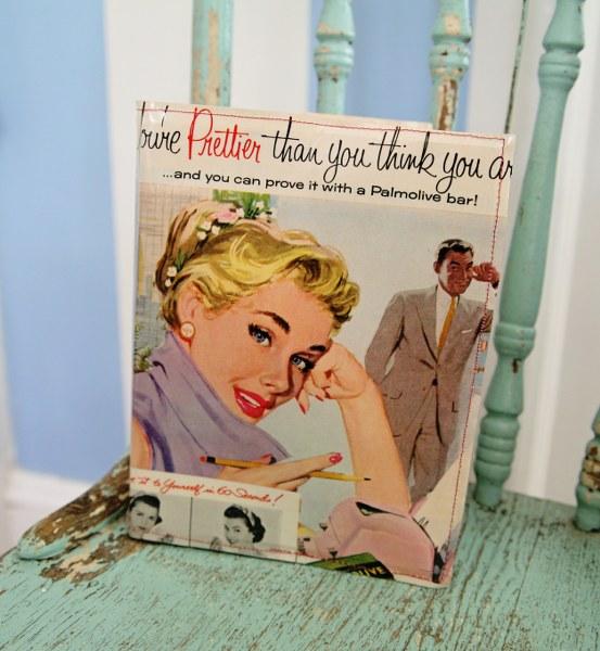 Diy Vinyl Book Cover ~ Diy very vintage vinyl book covers my so called crafty life