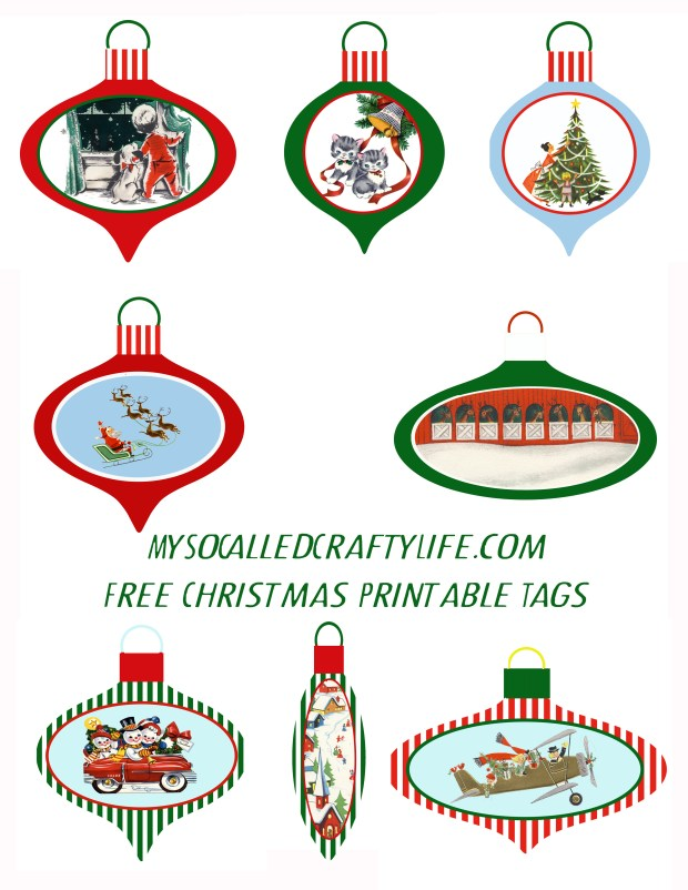 printable ornament xmas tags