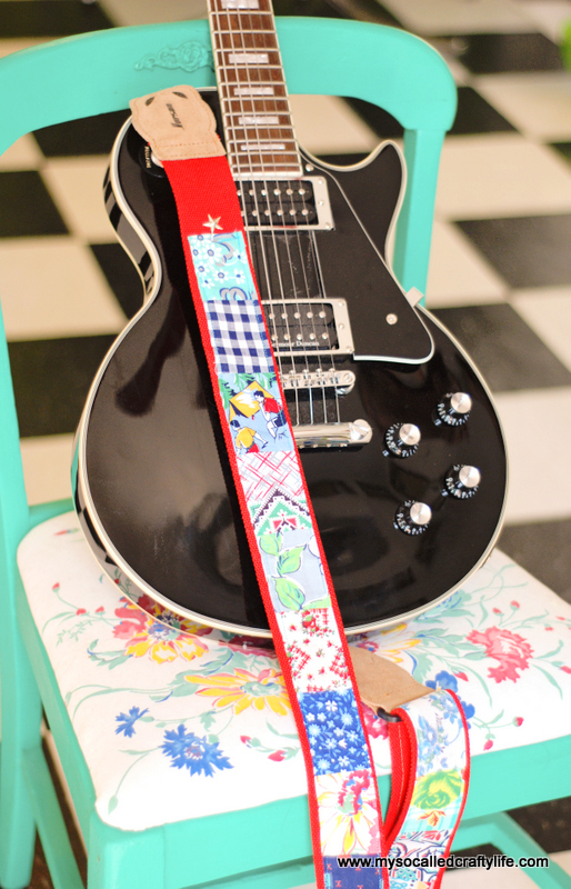 diy patched guitar strap