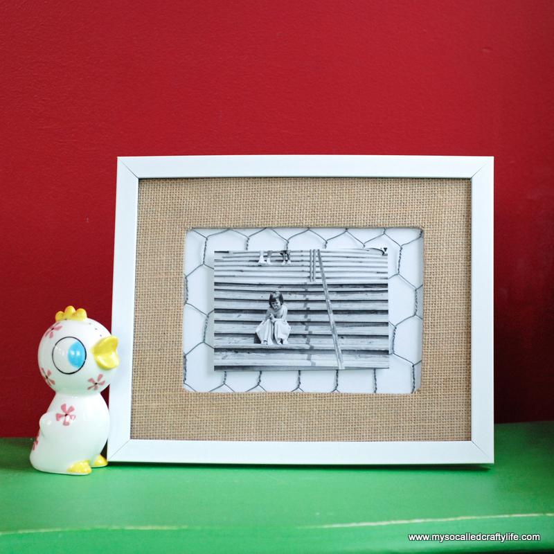 Easy DIY Rustic Photo Frame - My So Called Crafty Life