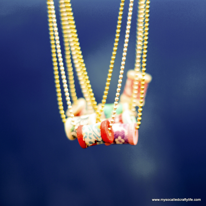 tiny spool necklaces