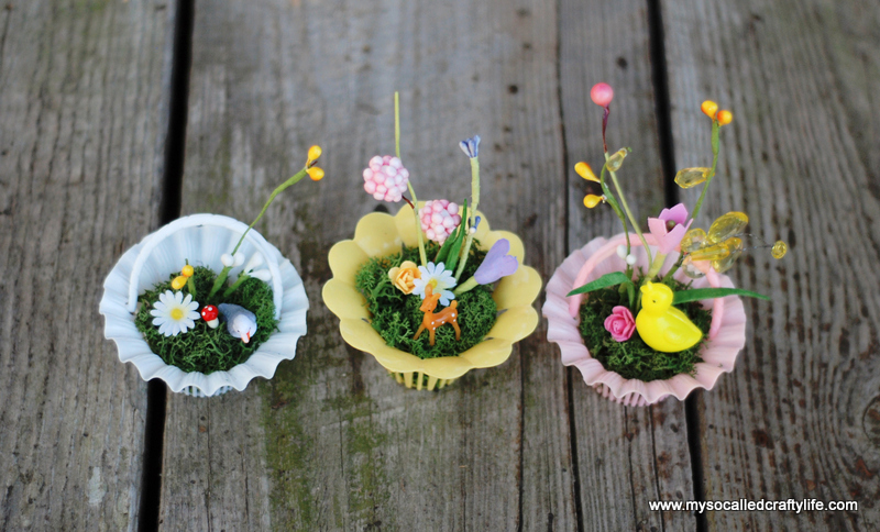 diy mini spring baskets