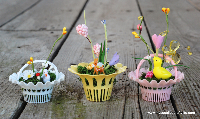 diy vintage mini easter baskets