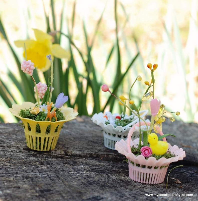 mini vintage easter baskets