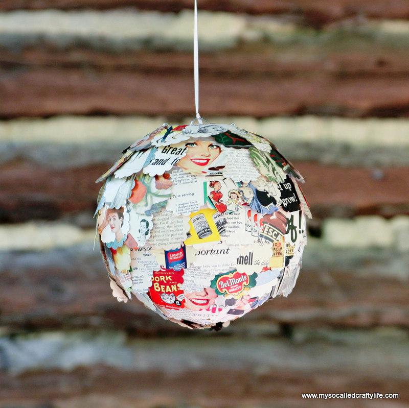 DIY Upcycled Vintage Magazine Paper Lantern DIY