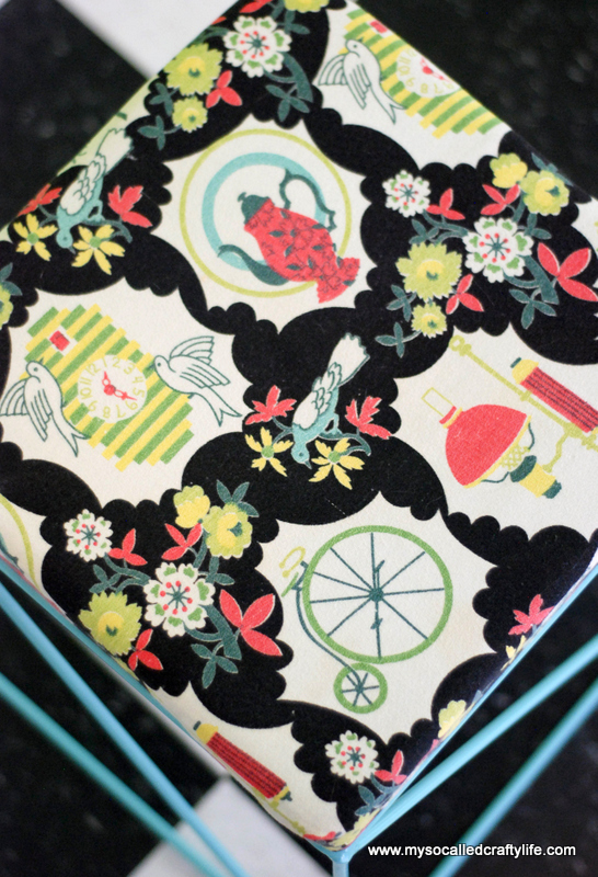 kitchen vintage barkcloth