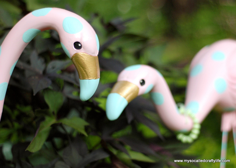 diy retro flamingo
