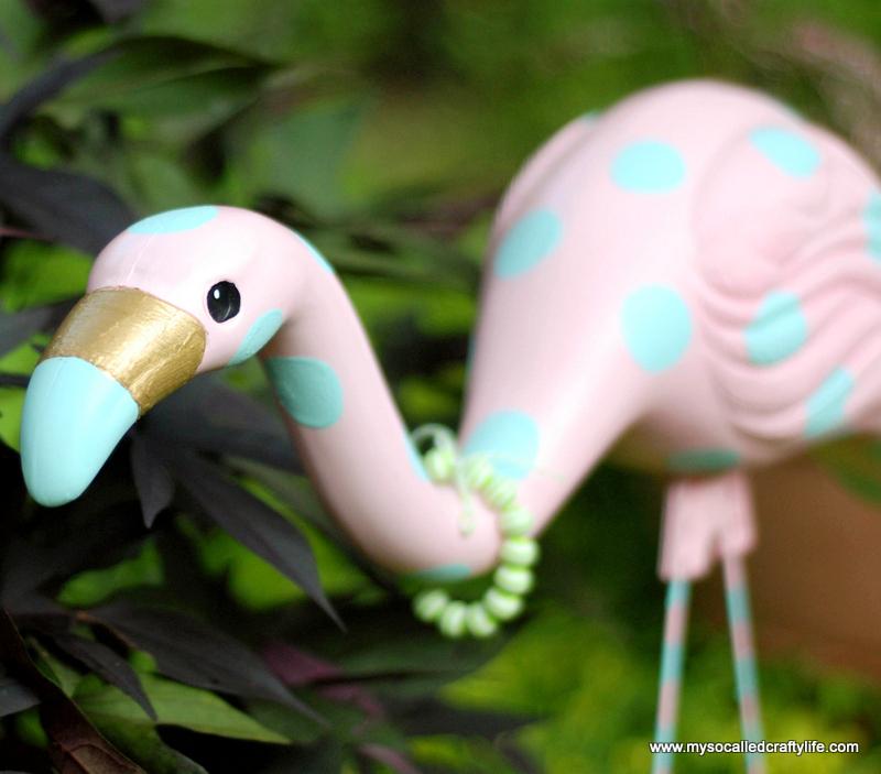 revamped yard flamingo