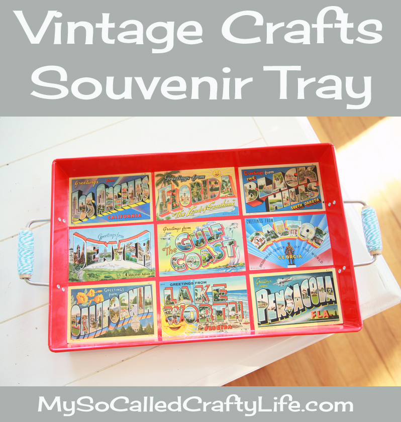 vintage souvenir tray