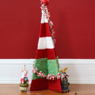DIY Vintage Yarn Wrapped Christmas Tree