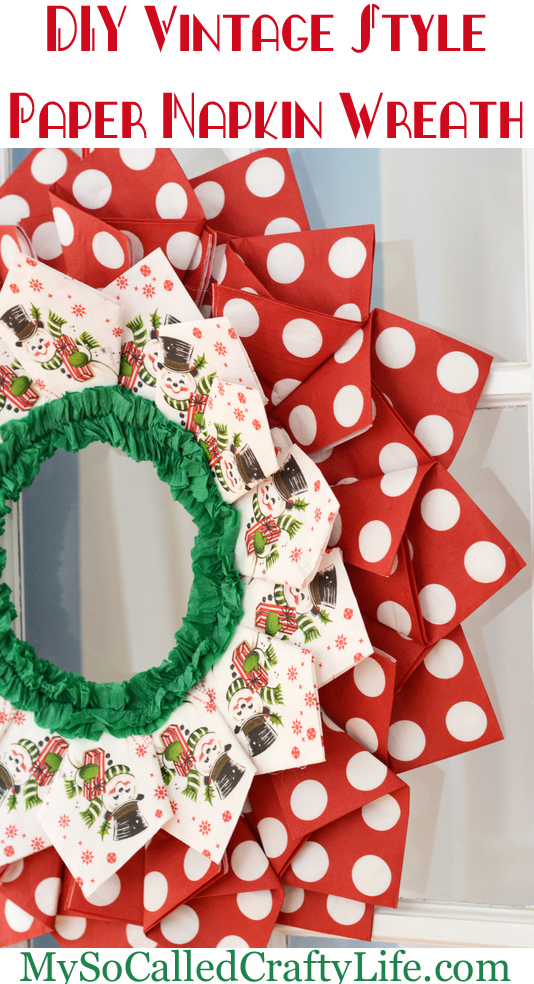 paper napkin wreath